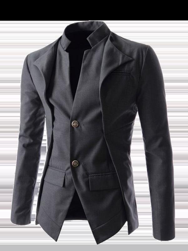 Men's Slim-Fit Windowpane Coat